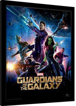 Poster Emoldurado Guardians Of The Galaxy - One Sheet