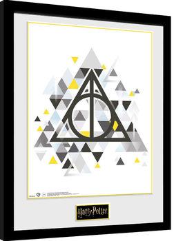 Poster Emoldurado Harry Potter - Deathly Pixels