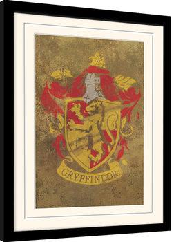 Poster Emoldurado Harry Potter - Gryffindor Crest