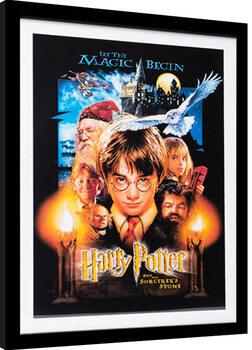 Poster Emoldurado Harry Potter - The Sorcerer's Stone
