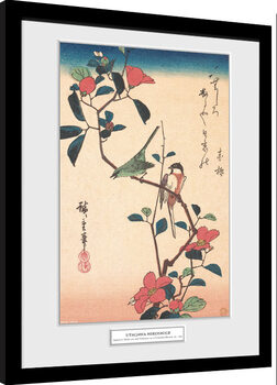 Poster Emoldurado Hiroshige - Japanese White-eye and Titmouse