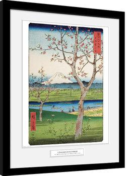 Poster Emoldurado Hiroshige - The Outskirts of Koshigaya