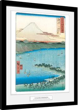 Poster Emoldurado Hiroshige - The Pine Beach At Miho