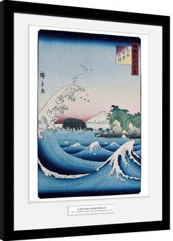 Poster Emoldurado Hiroshige - The Seven Ri Beach