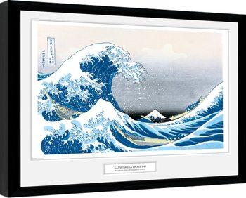 Poster Emoldurado Hokusai - Great Wave
