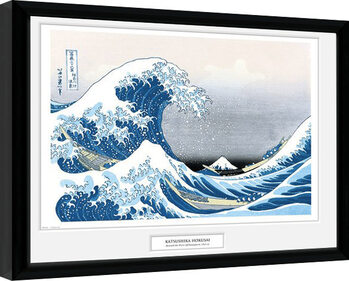 Poster Emoldurado Hokusai - Great Wave