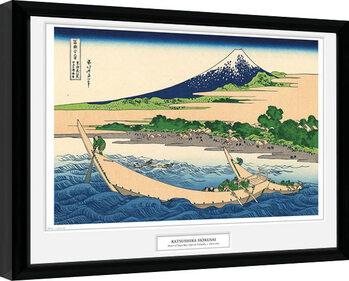 Poster Emoldurado Hokusai - Shore of Tago Bay