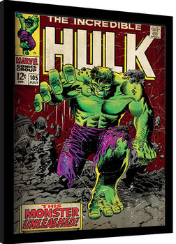 Poster Emoldurado Incredible Hulk - Monster Unleashed
