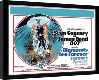 Poster Emoldurado James Bond - Diamonds are Forever 1