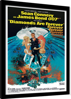Poster Emoldurado James Bond - Diamonds are Forever 2