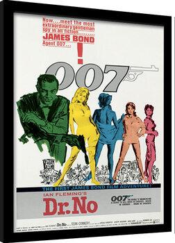 Poster Emoldurado James Bond - Dr No One Sheet