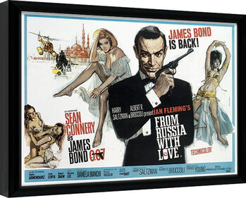Poster Emoldurado James Bond - From Russia With Love 1