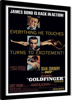 Poster Emoldurado James Bond - Goldfinger - Excitement