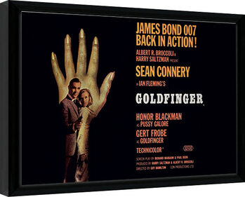 Poster Emoldurado James Bond - Goldfinger - One Sheet