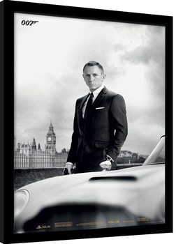 Poster Emoldurado James Bond (Skyfall) - Bond & DB5