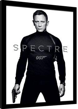 Poster Emoldurado James Bond: Spectre - Black and White Teaser