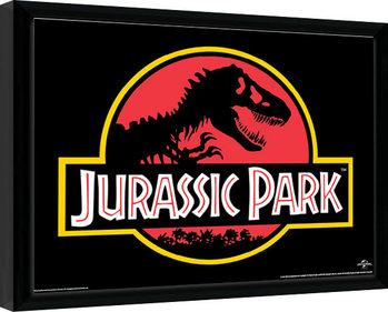 Poster Emoldurado Jurassic Park - Classic Logo