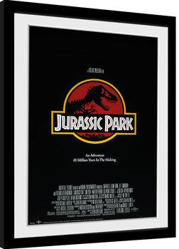Poster Emoldurado Jurassic Park - Key Art