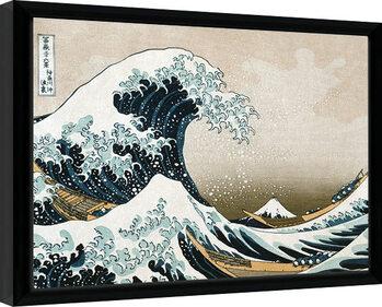 Poster Emoldurado Kanagawa - Great Wave