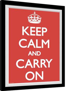 Poster Emoldurado Keep Calm And Carry On