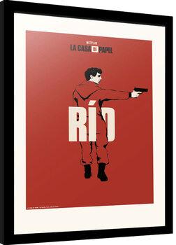 Poster Emoldurado La Casa De Papel - Rio
