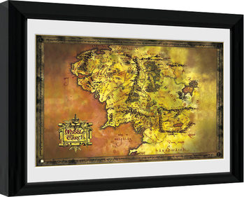 Poster Emoldurado Lord Of The Rings - Middle Earth