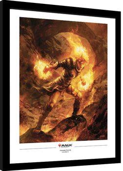 Poster Emoldurado Magic The Gathering - Chandra Nalaar