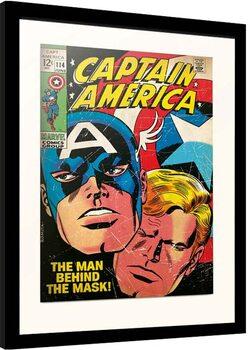 Poster Emoldurado Marvel - Captain America