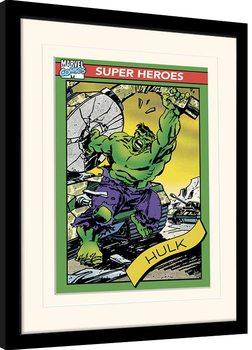 Poster Emoldurado Marvel Comics - Hulk Trading Card