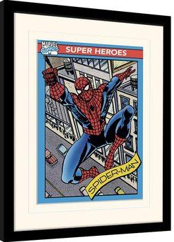 Poster Emoldurado Marvel Comics - Spider-Man Trading Card