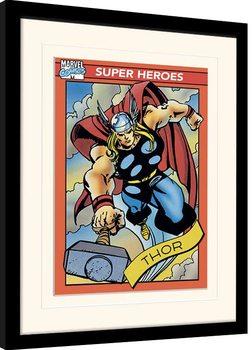 Poster Emoldurado Marvel Comics - Thor Trading Card