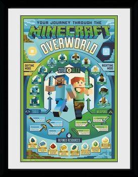 Poster Emoldurado Minecraft - Owerworld Biome