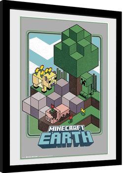 Poster Emoldurado Minecraft - Vintage