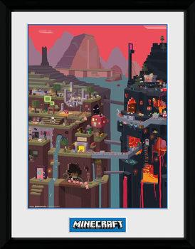 Poster Emoldurado Minecraft - World