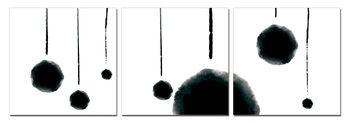 Quadro Modern Design - Hanging Balls (B&W)