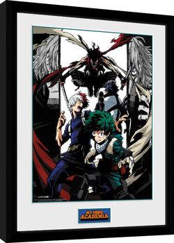 Poster Emoldurado My Hero Academia - Heroes and Villains