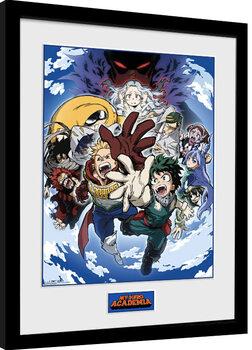 Poster Emoldurado My Hero Academia - Season 4 Key Art 2