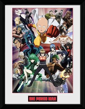 Poster Emoldurado One Punch Man - Key Art