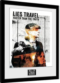 Poster Emoldurado Peaky Blinders - Lies Travel