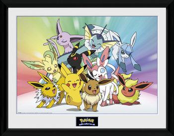 Poster Emoldurado Pokemon - Eevee