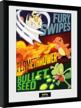 Poster Emoldurado Pokemon - Moves