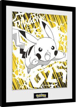 Poster Emoldurado Pokemon - Pikachu Bolt 25