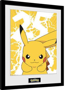 Poster Emoldurado Pokemon - Pikachu Lightning 25