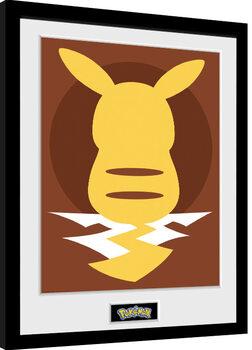 Poster Emoldurado Pokemon - Pikachu Silho 25