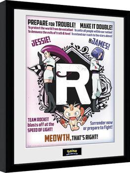 Poster Emoldurado Pokemon - Team Rocket