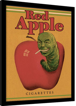 Poster Emoldurado PULP FICTION - red apple cigarettes
