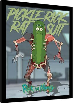 Poster Emoldurado Rick & Morty - Pickle Rick