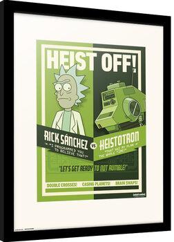 Poster Emoldurado Rick & Morty - Season 4 Heist