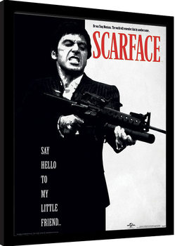 Poster Emoldurado Scarface - Say Hello To My Little Friend