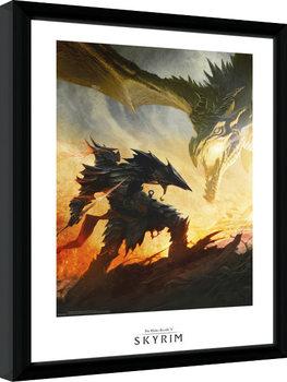 Poster Emoldurado Skyrim - Daedric Armour
